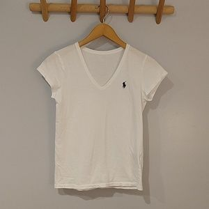 White Polo T Shirt Size XS